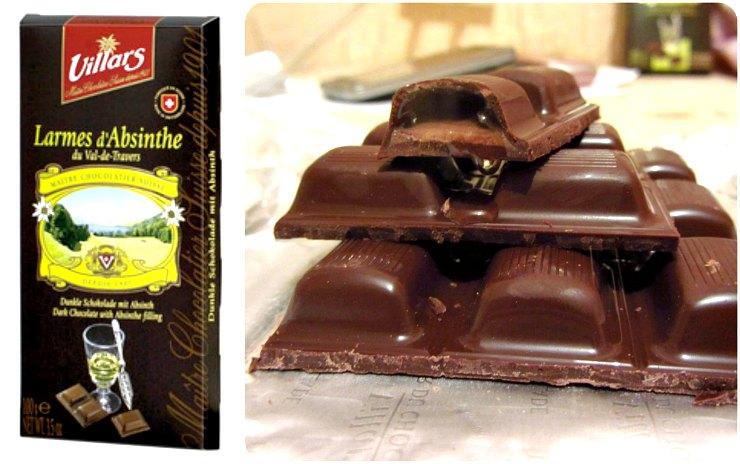 Шоколад с алкогольными начинками